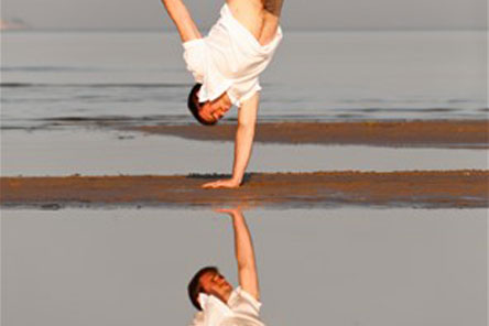 Senior Practitioner handstand