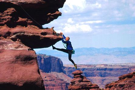 Bergbeklimmer die symbool staat voor veerkracht