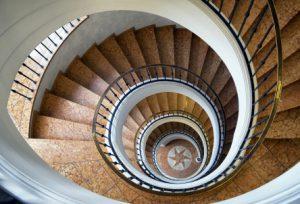 Een open trappenhuis
