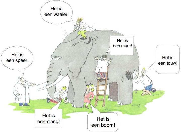 Een burnout is als een olifant
