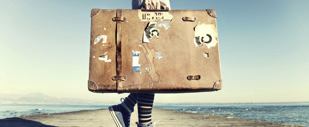 Op reis met je koffer, positiviteit